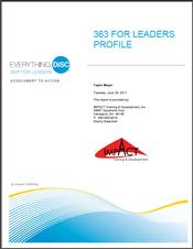 Everything DiSC® 363 for Leaders Report